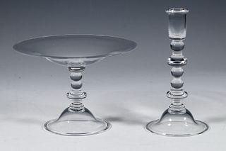 (2 PCS) STEUBEN GLASS