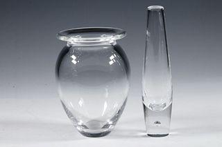 (2) STEUBEN GLASS VASES IN BOX