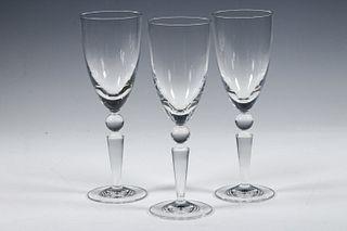 "(3) STEUBEN ""COUNTERPOINT"" WINE GLASSES"