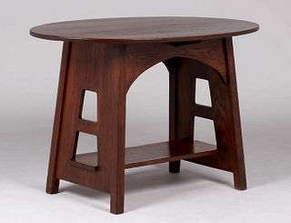 Limbert #146 Oval Cutout Table c1910