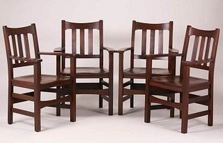 Stickley Brothers #378 1/2 Armchairs