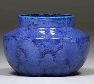 Fulper Pottery Chinese Blue Vase c1910s