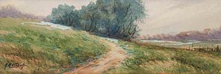 Albert A. Matthews California Landscape Watercolor