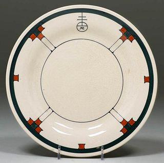 Roycroft Buffalo China Plate c1920s