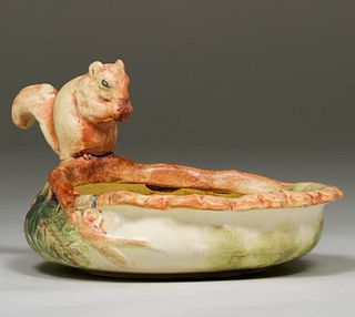 Weller Pottery Squirrel Bowl c1920