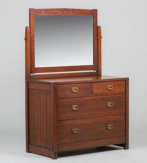 Early Gustav Stickley Four-Drawer Dresser c1903