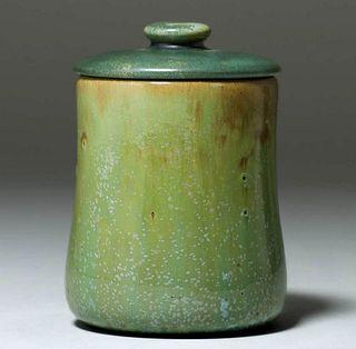 Fulper Pottery Leopardskin Humidor c1910