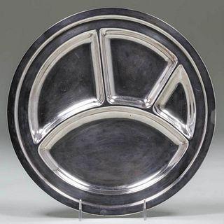 Joseph Heinrichs Silver-Plated Copper Plate c1915