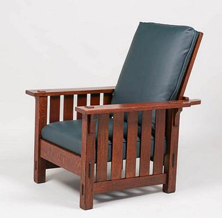 L&JG Stickley Onondaga Shops #498 Slatted Morris Chair