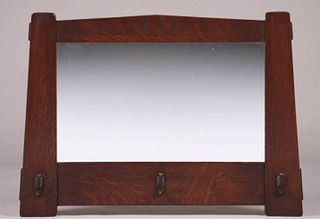 Stickley Brothers Trapezoidal Mirror c1910
