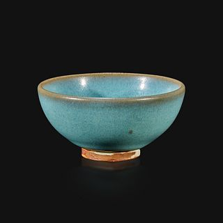"""A Chinese Jun-type small """"bubble"""" teabowl"""