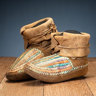 Northern Plains Quilled Moccasins