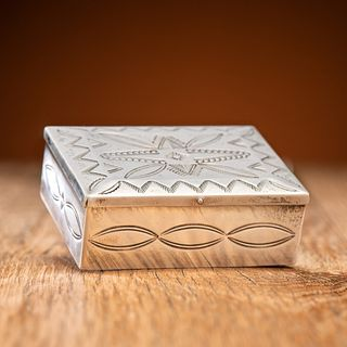 Navajo Stamped Silver Box