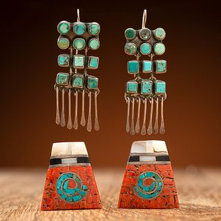 Zuni and Pueblo Earrings