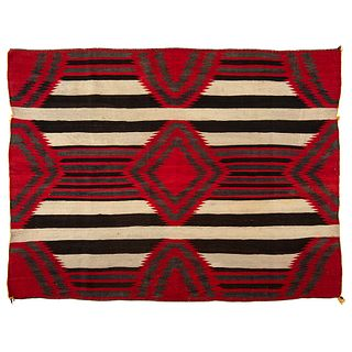 Navajo Third Phase Blanket / Rug, Collected U.S. Special Agent Johnson N. High (1842-1909)