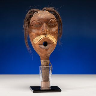 Tlingit Carved Effigy Rattle