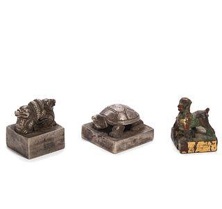 THREE CHINESE SEALS