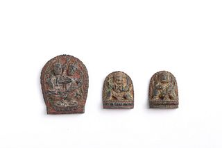THREE TIBETAN BUDDHA AMULETS (CACA)