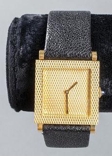Boucheron 18K Yellow Gold Square Dial Watch
