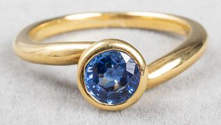 Angela Cummings 18K Yellow Gold Sapphire Ring