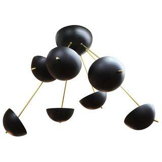 Serge Mouille Style Sputnik Enamel Chandelier