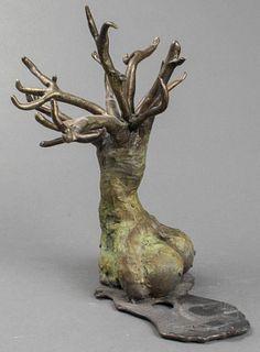 """Tree of Life"" Modern Bronze Sculpture"