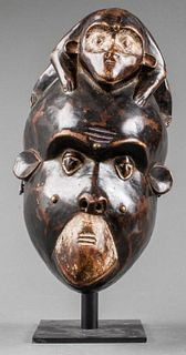 African Bulu Monkey Mask, Cameroon