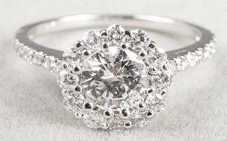 1.00 CTTW Round Brilliant Cut Diamond Ring
