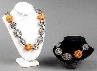 Alexis Bittar Modern Openwork Necklaces, 2