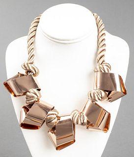 Alexis Bittar Horsehair & Copper-Tone Necklace