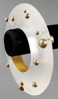 Alexis Bittar Jumbo Lucite Bangle Bracelet