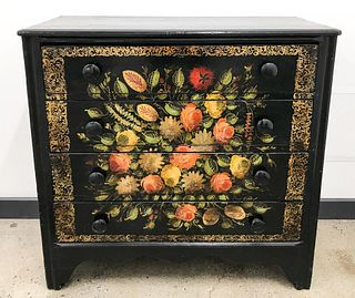 American Paint Decorated Chest of Drawers
