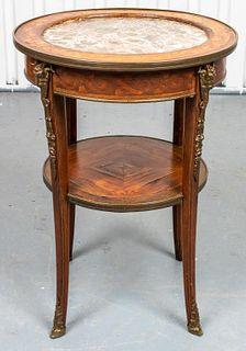 Louis XVI Style Parquetry Inlaid Gueridon