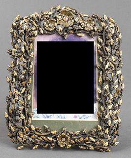 Jay Strongwater Enameled Metal Picture Frame