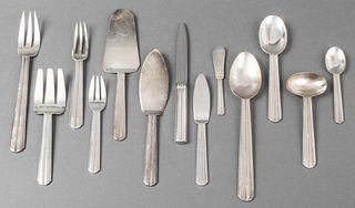 "Puiforcat ""Chantaco"" Silver-Plate Flatware, 116 Pc"
