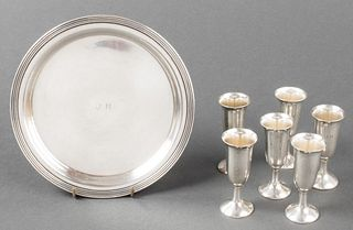 Cartier Sterling Silver Cordials & Tray