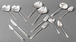 Reed & Barton Modern Silver Serving Pieces, 12