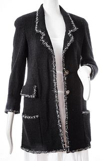 Chanel Black Wool Boucle Jacket