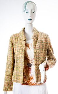 Cynthia Rose Multicolor Tweed Jacket And Top