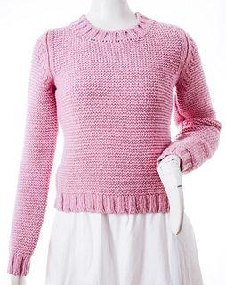 Chloe Pink Wool Knit Sweater