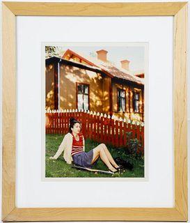 "Katharina Bosse ""O.T. Frau Mit Lilie"" C-Print 1998"