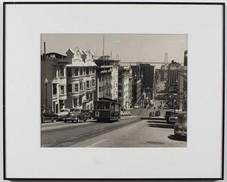 """""""San Francisco Trolley"""" Gelatin Silver Print, 1920"""