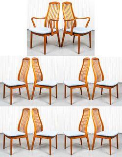 Mid-Century Modern Teak Dining Chairs, 10