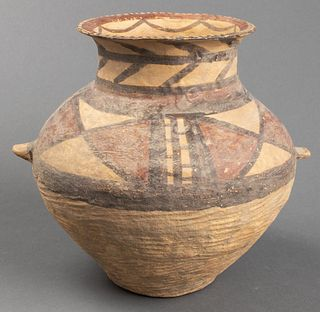 Chinese Neolithic Period Pottery Handled Vessel