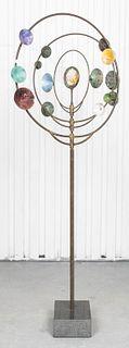 Celestial Wind Spinner Kinetic Sculpture