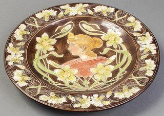 Art Nouveau Ceramic Decorative Wall Plate