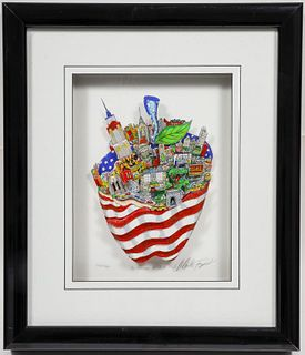"Charles Fazzino ""As American as Apple Pie!"" 3-D"