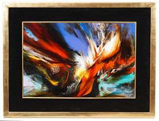 Leonardo Nierman 'Magic Fire' Painting O/B