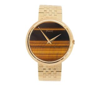 Vintage Piaget 18K YG Tiger Eye Watch
