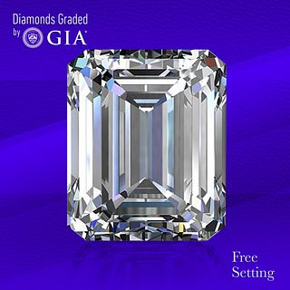 5.01 ct, G/VS2, Emerald cut Diamond. Unmounted. Appraised Value: $320,600